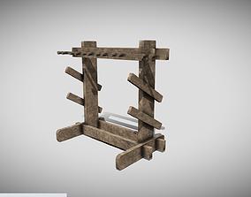 3D asset Medieval Weapons Rack