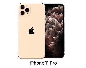 Apple iPhone 11 Pro Gold 3D model