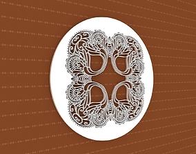 3D Mandala frame ornament