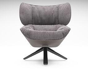 Tabano Chair 3D model - BeB Italia seating