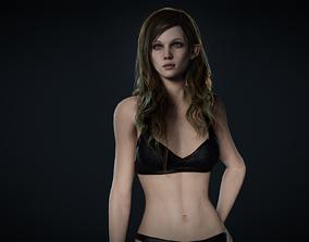 Girl Basemesh 3D asset rigged game-ready