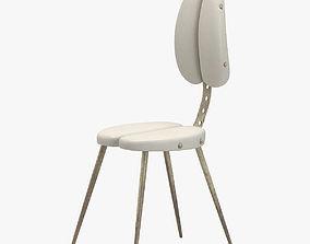 3D coin White Chair