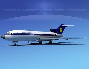 3D model Boeing 727-100 Lufthansa 2