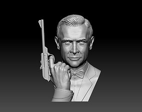 Sean Connery James bond bust and hand model with Walther