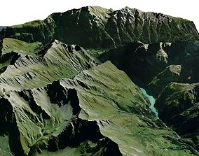 Mountain landscape Liechtenstein 3D