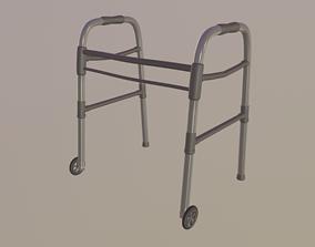 side 3D model Wheeled Walker