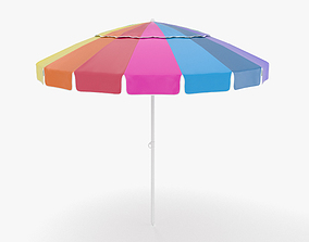 Beach Umbrella 3D model outdoor