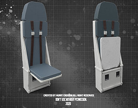 3D model Plane Seat PBR