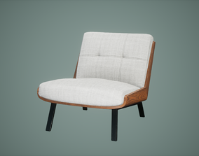 Chair Low Poly Game Ready 3D asset