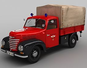 Barkas Framo V901 Fire Truck 3D