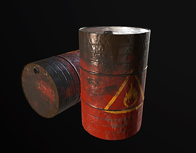 3D asset Oil Barrel - Drum
