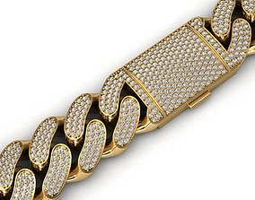 18 MM MIAMI CUBAN LINK CHAIN 3 ROWS 3D printable model 2