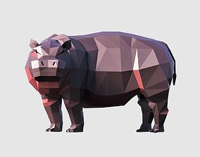 Hippo 3D asset game-ready