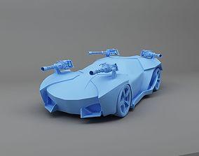 Fighter Car 3D Print Ready Model