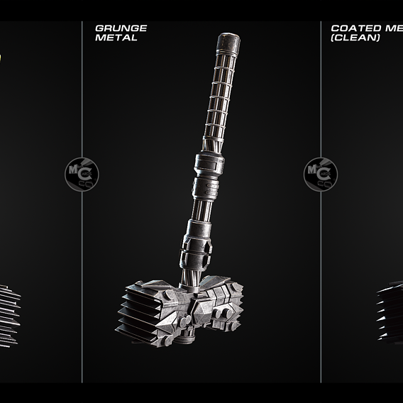 3d Sci-fi weapon visualition