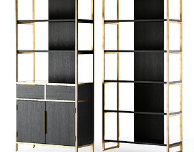 3D model Crate and Barrel Oxford Bookcase
