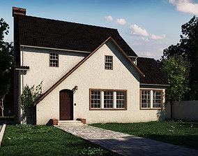 classic house exterior 3D