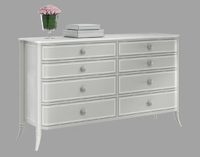 MADAME Adalie French Country Grey Double Dresser 3D model