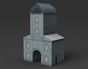 3D asset realtime Water tower