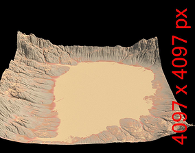 Desert Crater Landscape 3D model