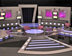 life 3D model Virtual TV Studio