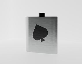 Ace of Spade Flask 3D asset