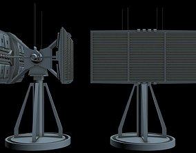 Sci-fi Radar 2 3D model