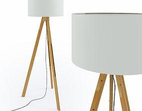 Tripod Wood Floor Lamp 3D model