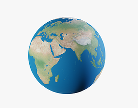 Earth sphere 3D asset realtime