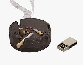 3D asset Smoke Cigarette