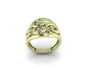 14k 3D print model wedding ring 2