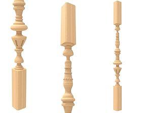 3D printable model Wood baluster 3