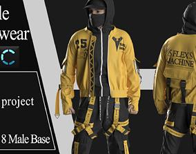 Male Streetwear 1 3D model