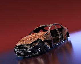Junkyard Sedan 3D asset