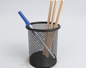 3D model FSlife Mesh Pen Pencil Cup Holder Metal 2