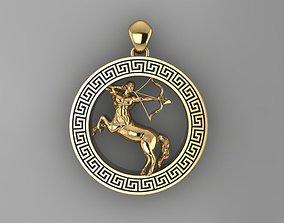 3D print model Sagittarius pendant zodiac