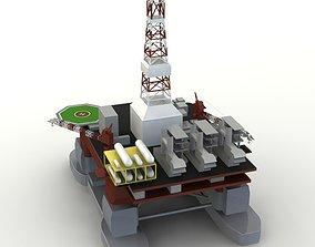 Offshore Oil Platform 3D model