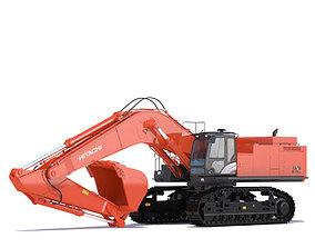 3D Excavator Hitachi Zaxis ZX870