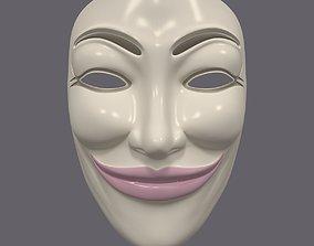 Anonymous Mask - Female 3D model
