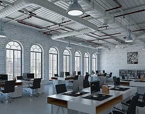 Loft office interior 2 3D model