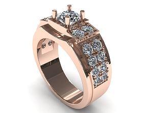 Man Wedding Diamond Ring 3D print model