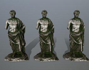 sculptural statue 1 3D asset game-ready