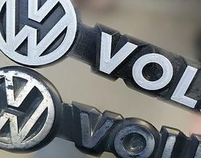 3D printable model Logo Volkswagen and Transporter car