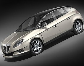 3D Lancia Delta 2009 mid-poly