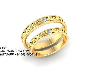 641 Diamond Wedding Ring 3D print model