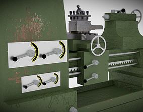 Lathe turning machine 3D model