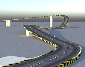 Circuit Basic Track Circle Road 3D asset