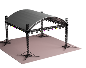 Dome Tent Truss Stage Light Truss Clamp 3D