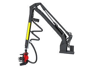 Forestry Crane 3D