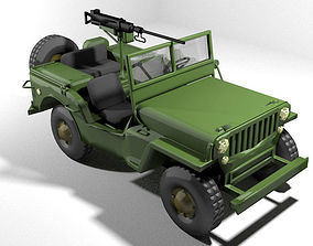Armoured Car - Willys Jeep 3D model